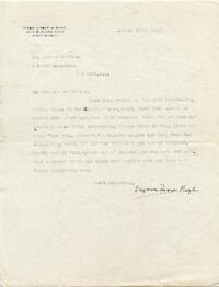Letter from Virginia Frazer Boyle, Memphis, Tennessee, to Hugh S. Fullerton, New York, New York : typed manuscript signed, 1925 August 24