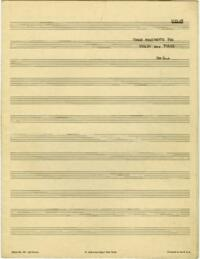 Movements, violin, piano / Hubert Lamb. Part for violin