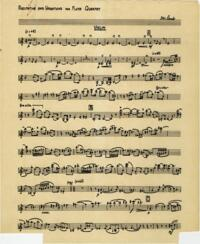 Recitative and variations/ Hubert Lamb. Part for violin