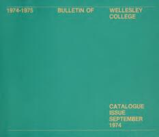 1974-1975 Bulletin of Wellesley College