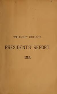 Report of the President 1889