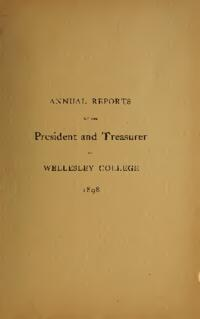 Report of the President 1898