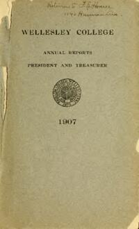 Report of the President 1907