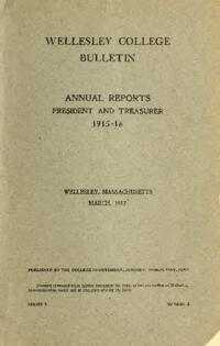 Report of the President 1915-1916