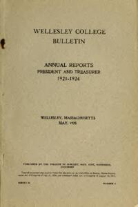 Report of the President 1921-1924