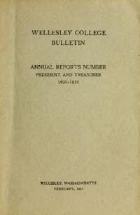 Report of the President 1930-1931