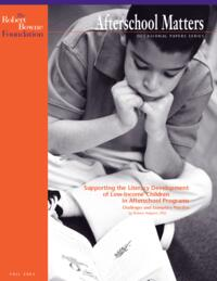 Afterschool Matters Occasional Paper Fall 2003