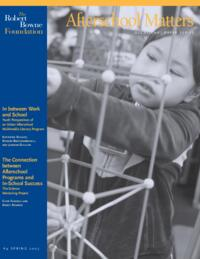 Afterschool Matters Occasional Paper Spring 2005