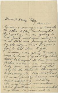 Letter from Jane W. Cary, Wellesley, Massachusetts to Allen, Baltimore, Maryland, 1912 or 1913
