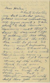 Letter from Jane W. Cary, Wellesley, Massachusetts to Helen Cary, Windsor, Connecticut, 1913 or 1914