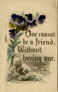 Postcard from Jane W. Cary, Wellesley, Massachusetts to Mrs. Wren B. Cary, Windsor, Connecticut, 1914 May 26