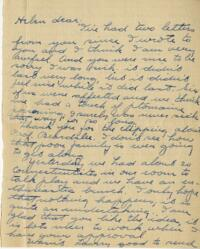 Letter from Jane W. Cary, Wellesley, Massachusetts to Helen Cary, Windsor, Connecticut, 1914