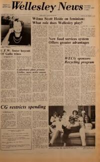 The Wellesley News (10-11-1974)