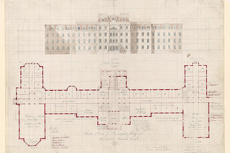 Preliminary Elevation of College Hall